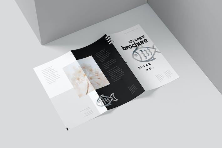 US Legal 3 Fold Brochure Mockups