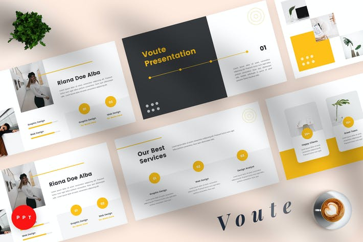 Thumbnail for Voute - Pitch Deck Powerpoint Template