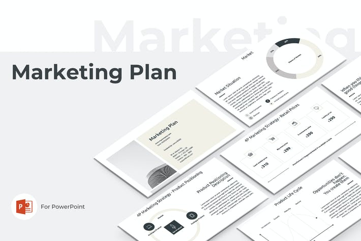 Thumbnail for Marketing Plan PowerPoint Presentation Template
