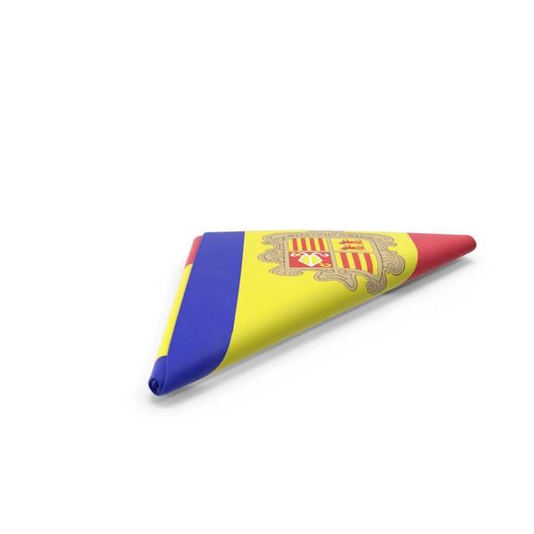 Flag Folded Triangle Andorra