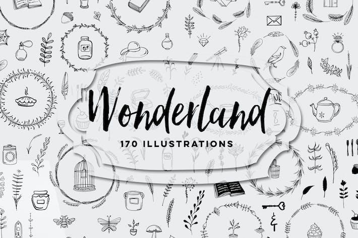 Thumbnail for 170 Wonderland Illustrations