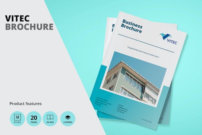Thumbnail for Real Estate A5 Brochure Template