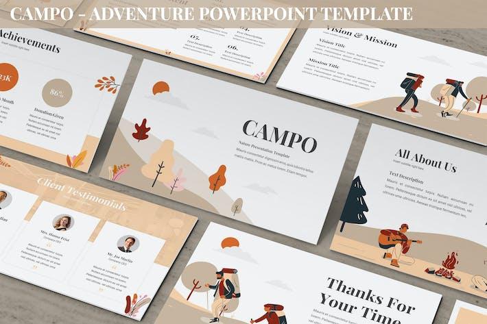 Campo - Приключения Powerpoint Шаблон