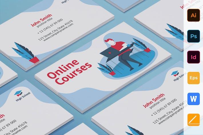 Thumbnail for Online Kurse Visitenkarte