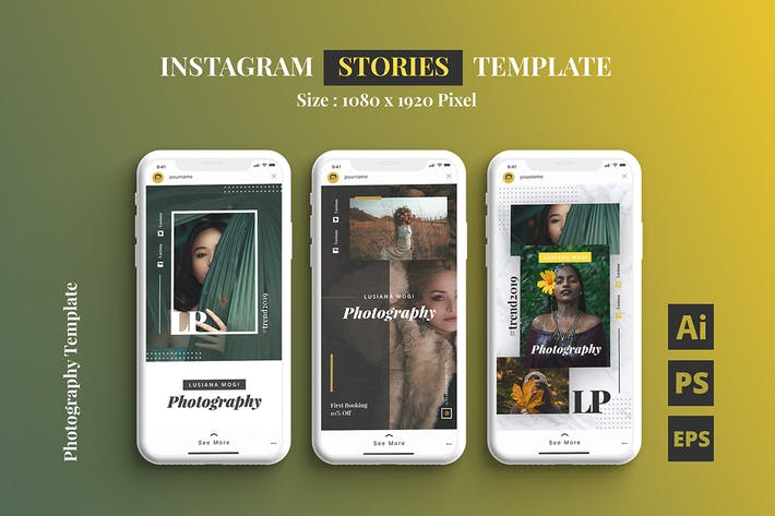Thumbnail for Photography Instagram Stories Template
