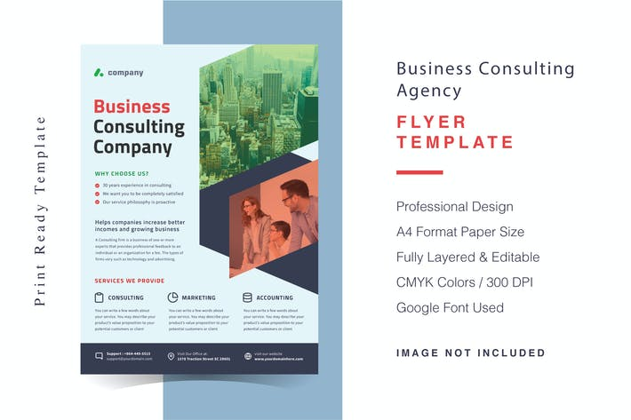Thumbnail for Business Consulting Agency Flyer Template
