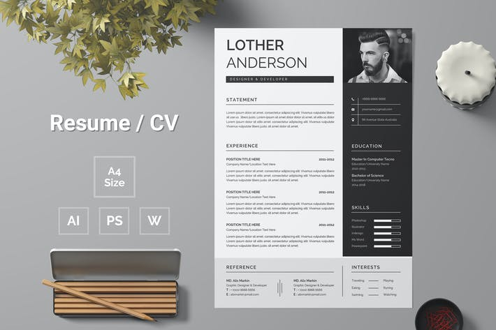 Thumbnail for Resume Template 155