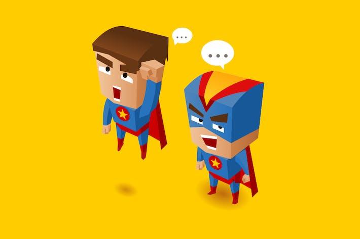 Thumbnail for Zwei blaue Superhelden