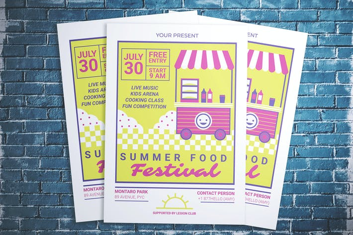 Thumbnail for Summer Food Festival Flyer