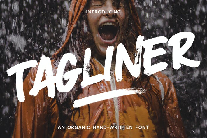 Thumbnail for Tagliner - Handwritten Font