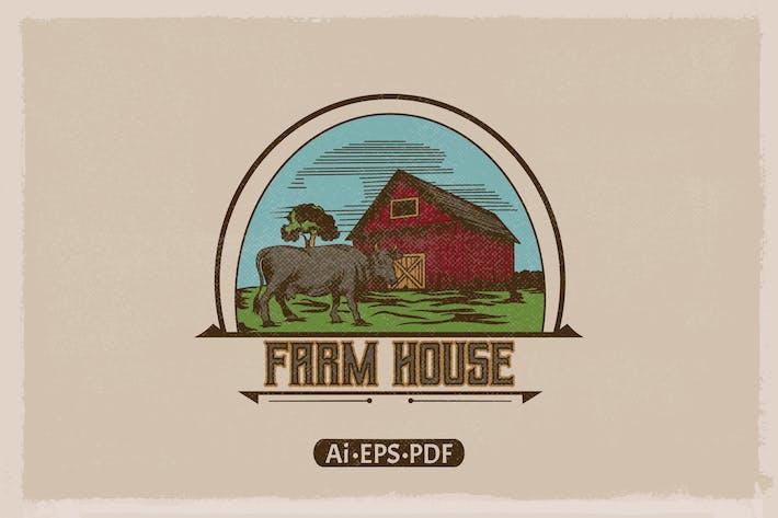 Farm House Vintage Handdrawn Logo