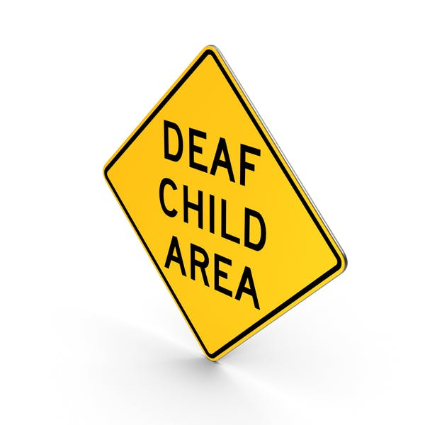 Deaf Child Area Road Sign