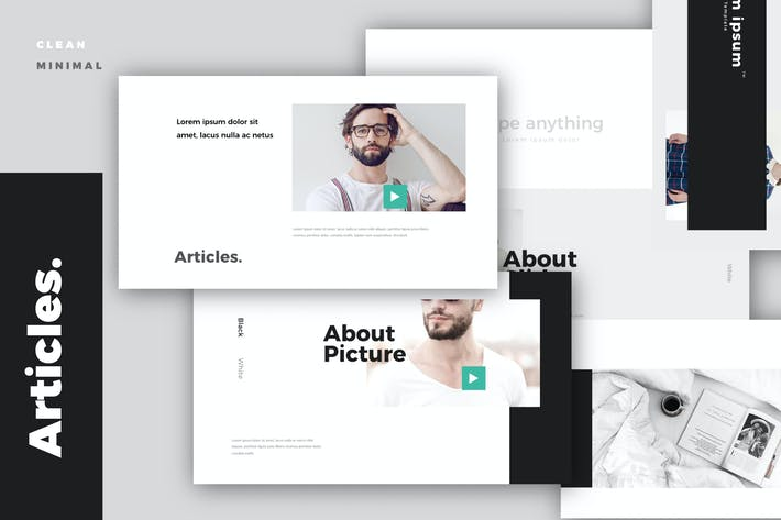 Thumbnail for Articles. Modern Minimal Powerpoint