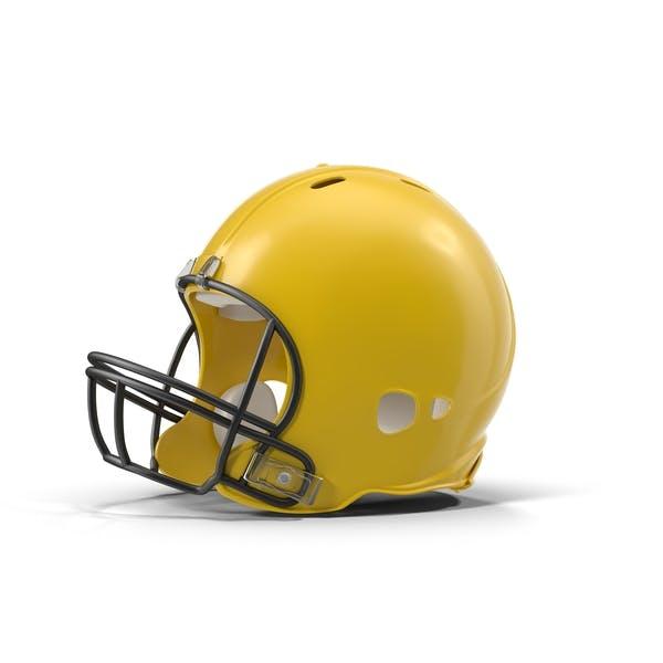 Casco de fútbol amarillo