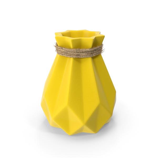 Фарфоровая современная алмазная форма ваза