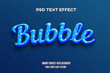 Bubble text effect