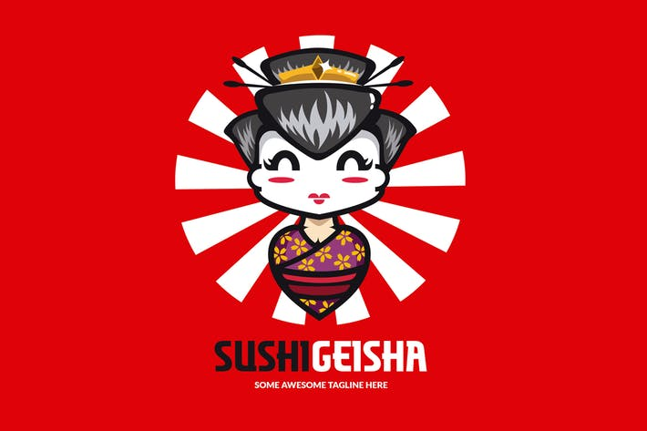 Thumbnail for Sushi Geisha Logo Template