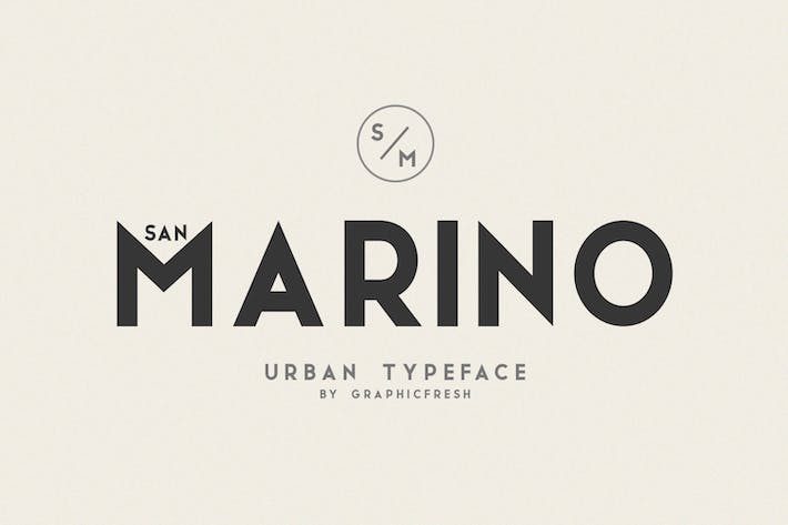 Thumbnail for San Marino // Four Font Files