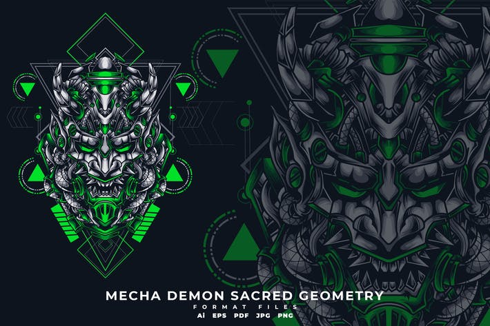 Thumbnail for MECHA DEMON SACRED GOEMETRY