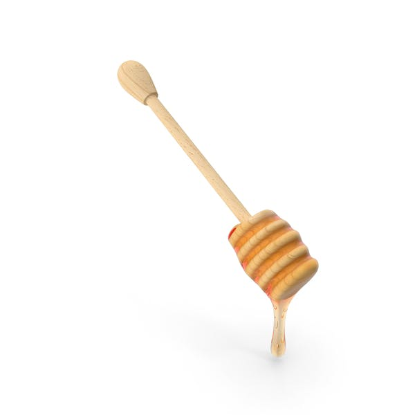 Thumbnail for Wooden Dipper Covered with Honey