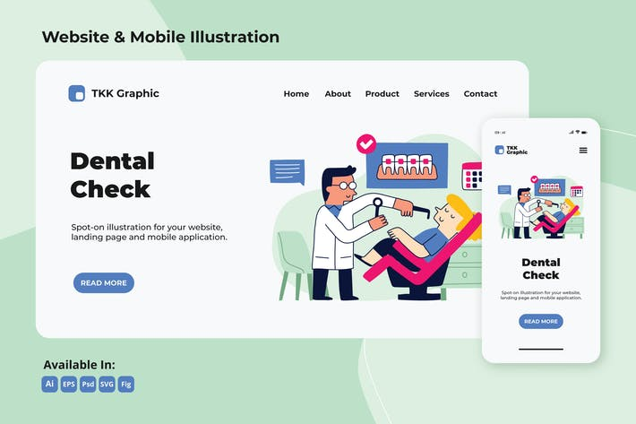Thumbnail for Regular Dental check up web and mobile