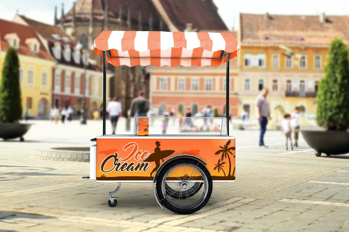 Thumbnail for Ice Cream Cart Mock-Up