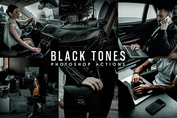 Thumbnail for Black Tones Photoshop Actions