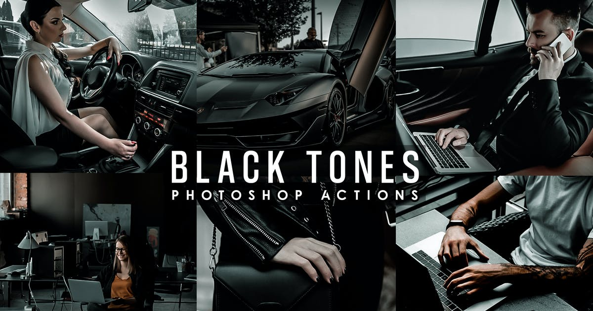 Download Black Tones Photoshop Actions by 2lagus