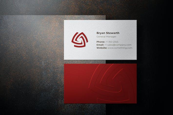 Thumbnail for Cartão de visita em relevo com criador de sombras