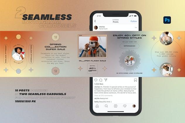 Shape & Gradient Instagram Carousels