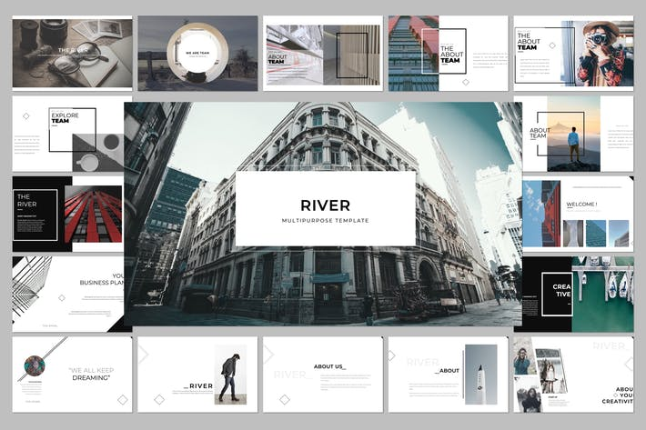 Thumbnail for River Multipurpose Google Slide Template