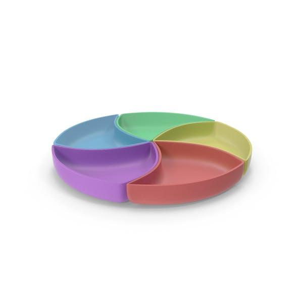 Thumbnail for Plastic 5 Compartment Circle Bowl