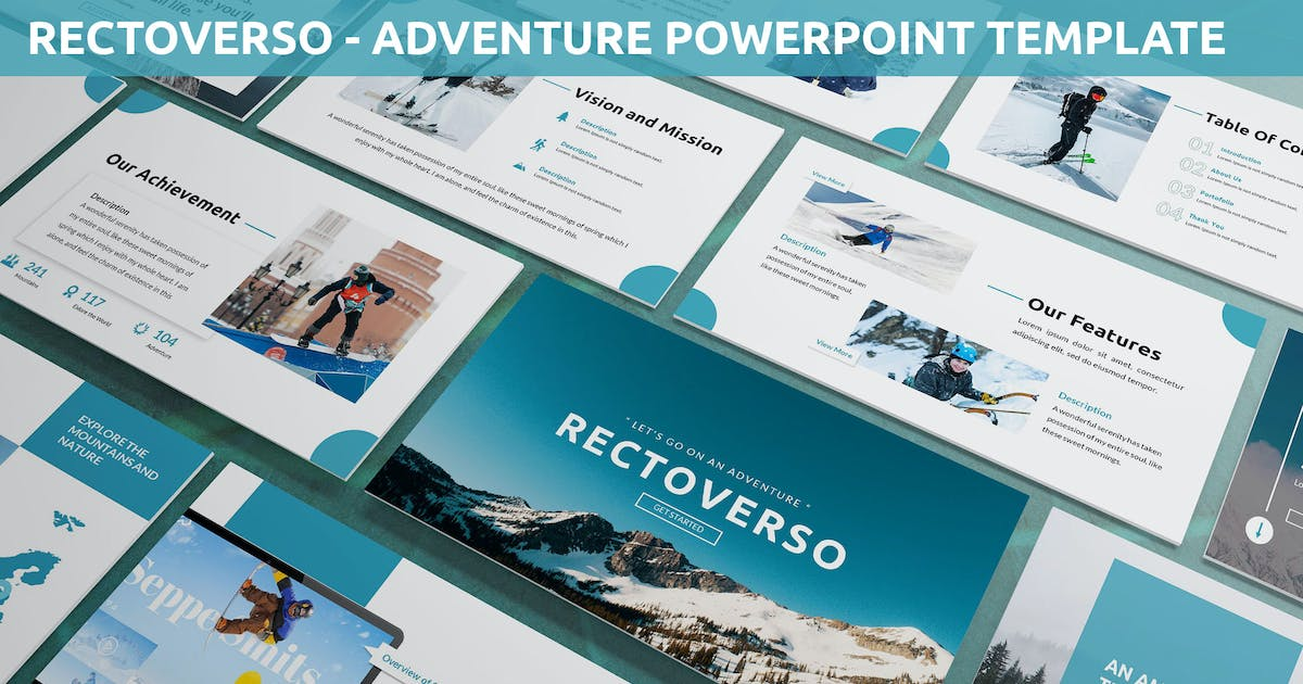 Download Rectoverso - Adventure Powerpoint Template by SlideFactory