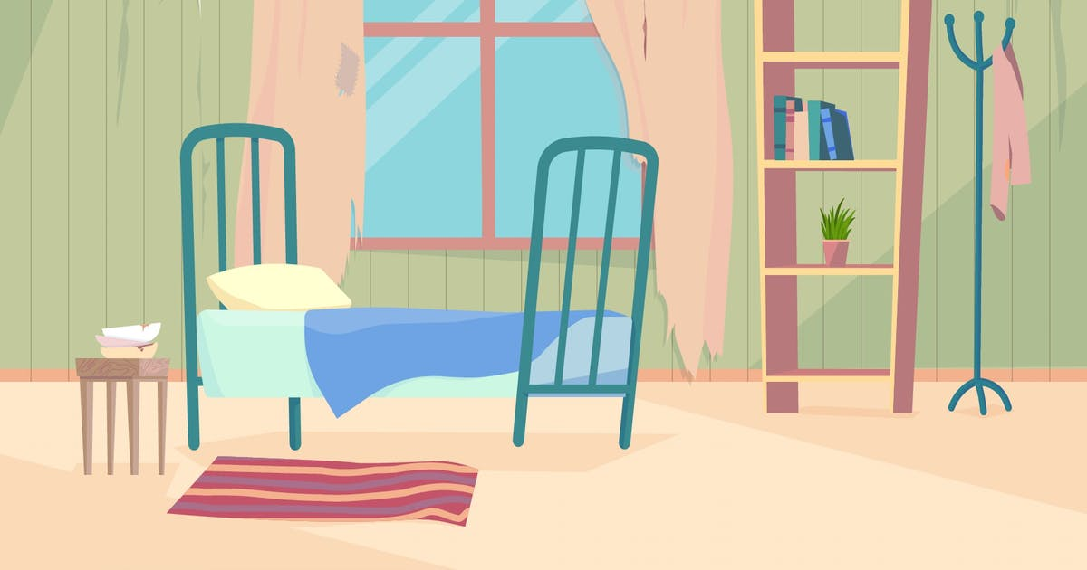 Download Old Room - Illustration Background by motion_party