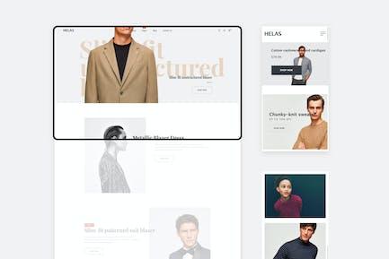 Helas - Thème Minimal Shopify