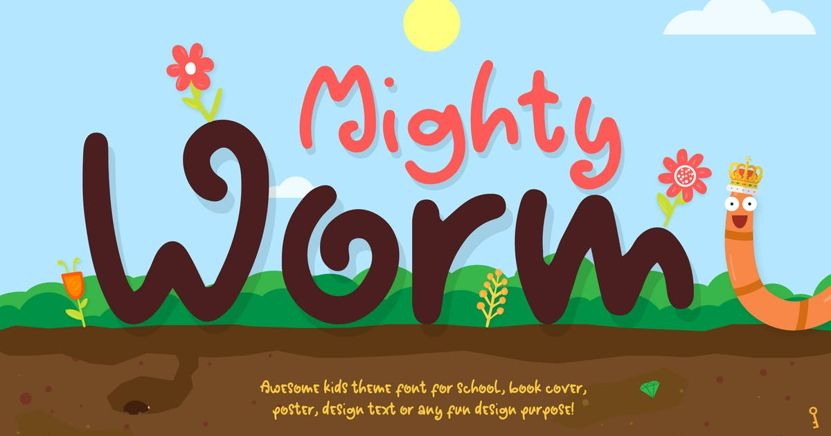 Download Mighty Worm Font by afahmy
