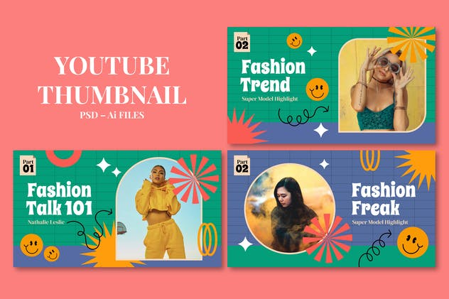 Fashion Talk – Youtube Thumbnail Template Pack