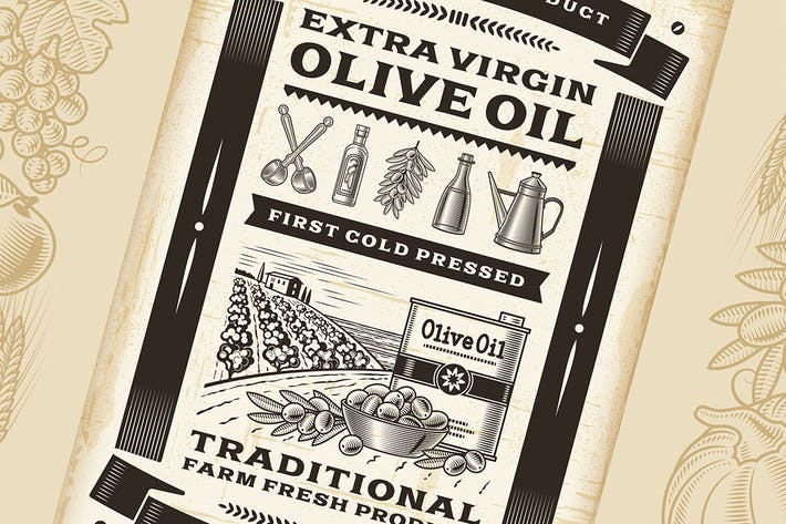 Thumbnail for Vintage Olive Oil Poster