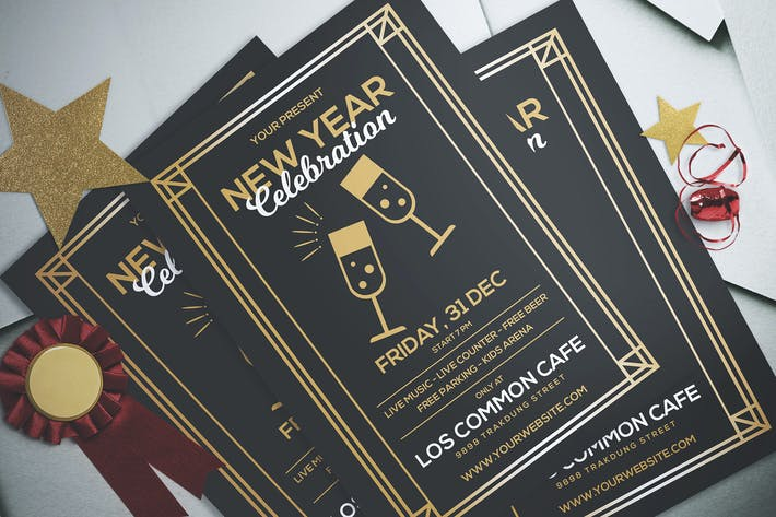 Cover Image For New Year Party Flyer