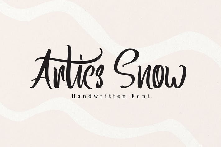 Thumbnail for Artics Snow - Police manuscrite