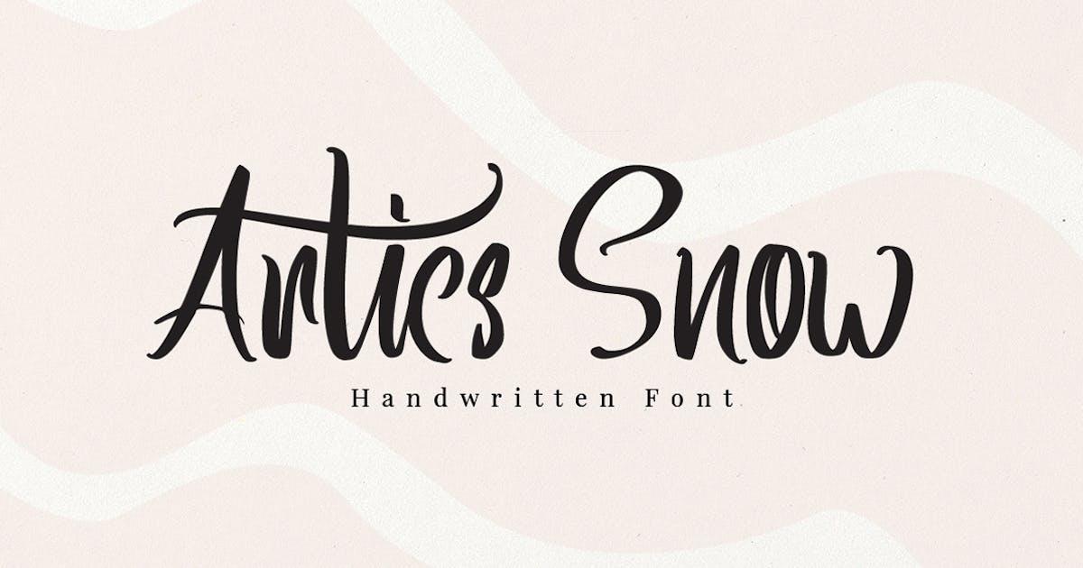 Download Artics Snow - Handwritten Font by Voltury