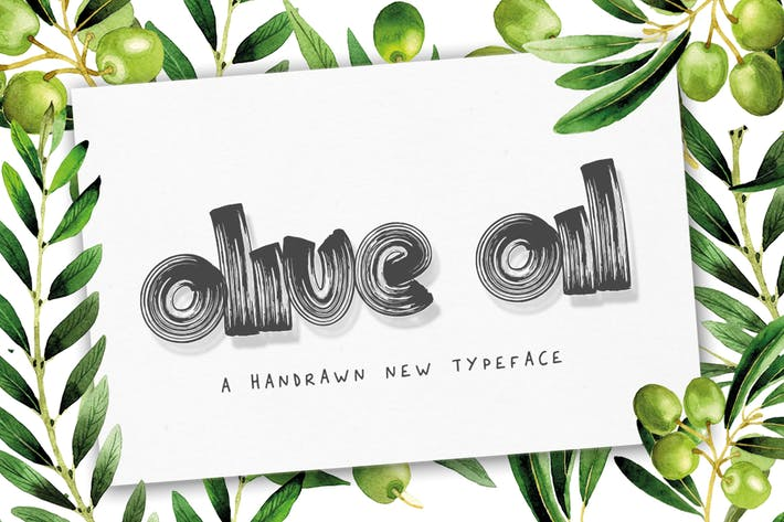 Cover Image For Olive Oil Font