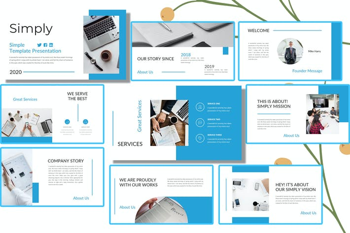 Simply - Business Google Slide Template
