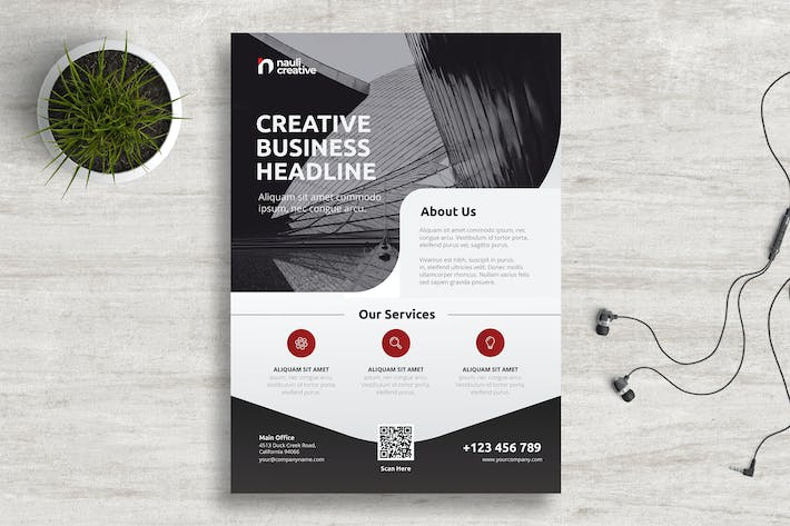 Thumbnail for Corporate Business Flyer PSD and Vector Vol.5