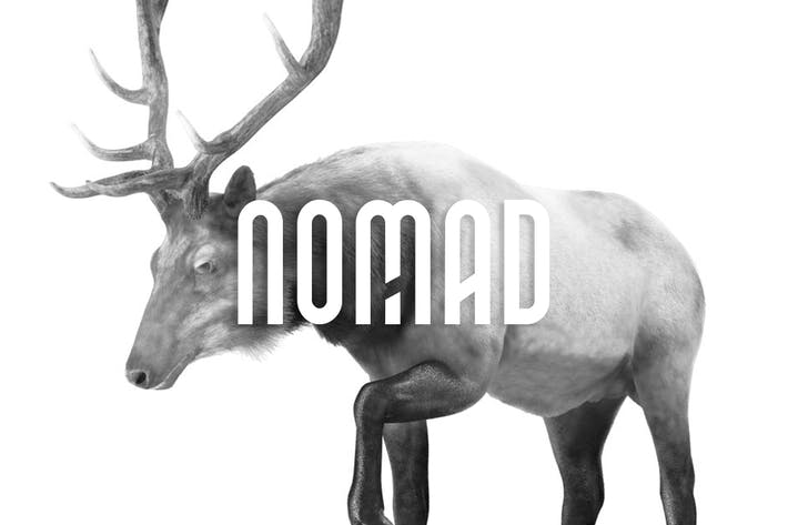 Thumbnail for NOMAD - Unique Display / Monogram / Logo Typeface