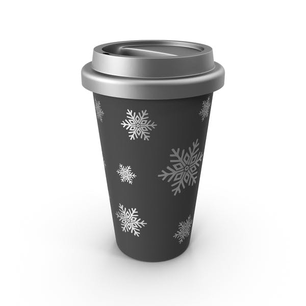 Christmas Coffee Cup Silver