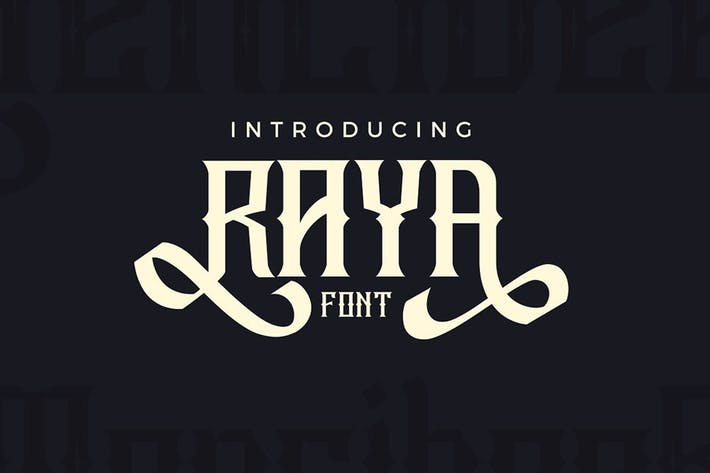 Thumbnail for Raya Vintage Swash Font