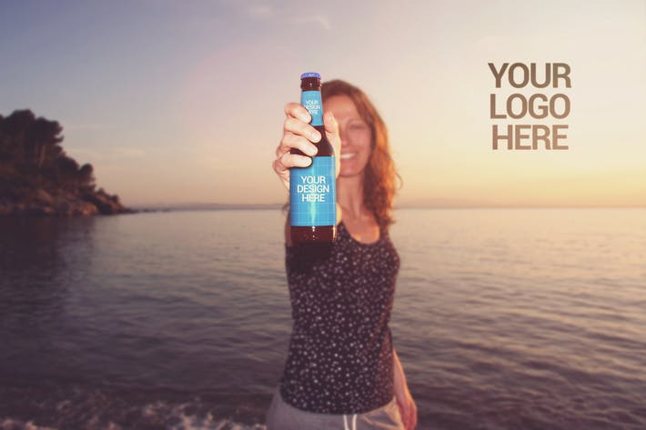 Cover Image For Beach Beer Happy Moment | Logo