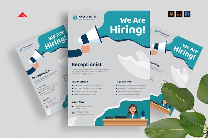 Thumbnail for Receptionist Job Hiring Advertisement