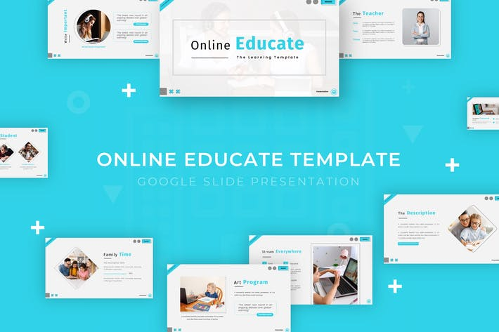 Thumbnail for Online Educate - Google Slide Template